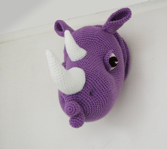 Crochet Amigurumi Head : Pepika - Rhinka the Rhino - Amigurumi Rhino Head Pattern