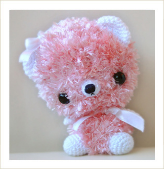 Peachy - Amigurumi Bear Photo