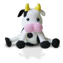 Free Crochet Pattern For Cow Hat : CROCHET COW PATTERN FREE Crochet Patterns